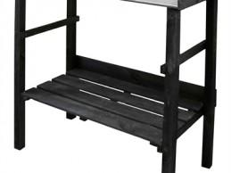 i trädgården - planteringsbord, svart itradgarden.se