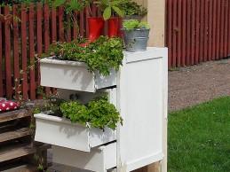 i trädgården - odla i gammal byrå, hurts, möbel, växter,  itradgarden.se