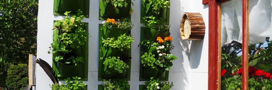 i trädgården - odla på vägg, tygpåsar www.itradgarden.se